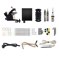 Professional Complete Tattoo Kit Set Tattoo Power Supply Coils Guns with Needles Tattoo Machine with 1 Non-fading Color thumbnail