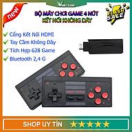 Máy chơi game điện tử cầm tay 4 nút bộ điều khiển trò chơi không dây mini 4k tích hợp 620 trò chơi 8 bit đầu ra HDMI - cài thêm trò chơi qua thẻ nhớ thumbnail