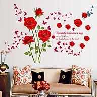 Decal Dán Tường Hoa Hồng Đỏ AY9195 thumbnail
