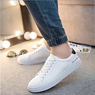 Giày Sneaker Thể Thao Nam Kiểu Dáng Hàn Quốc Màu Trắng GTTTR02 thumbnail