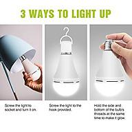 Bóng đèn ma thuật - Đèn Led tích điện 50w, phát sáng bằng cảm ứng nhiệt hoặc khi nhúng vào cốc nước, đui đèn E27 thumbnail
