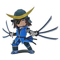 Mô hình giấy cắt dán thủ công Anime Game chibi Date Masamune - Sengoku BASARA thumbnail