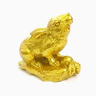 Tượng con Thỏ vàng, chất liệu nhựa được phủ lớp màu vàng óng bắt mắt, dùng trưng bày trong nhà, những nơi phong thủy, cầu mong may mắn, tài lộc - TMT Collection - SP005232 thumbnail