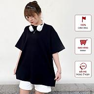 Áo Thun nữ WinBeen phong cách ulzzang form rộng tay lỡ vải cotton mềm mát 2 màu đen trắng cơ bản thumbnail