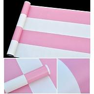 Combo 10m giấy dán tường sọc trắng hồng có keo sẵn thumbnail