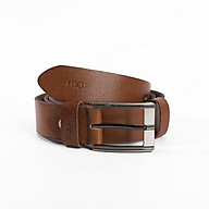 Thắt lưng nam chính hãng LODY da bò thật trơn nguyên miếng màu nâu khoá kim (dây rộng 3.5cm, dài 1.2m) thumbnail