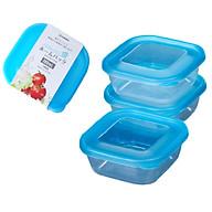 Set 3 hộp nhựa đựng nhựa đồ ăn dặm 380ml tặng 2 zipper 11cm thumbnail