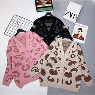 Áo khoác len cadigan nữ dày đẹp hoạ tiết bò sữa hàng QC thumbnail
