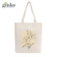 Túi Tote Vải Mộc GINKO Dây Kéo In Hình Minimalism Art M40 thumbnail