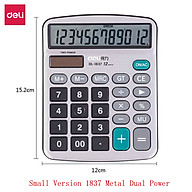 Deli Calculator 12 Digits Display Dual Power Supply Portable Desktop Calculator School Stationery Teach Multifunctional Calculator For Office Table Financial Business Accounting Tool thumbnail
