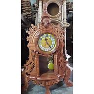 Đồng hồ quả lắc tân cổ điển để bàn bằng gỗ hương kt cao 68 45 15cm thumbnail