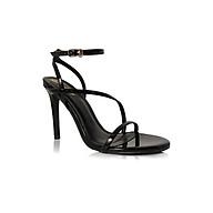 Giày Sandal Gót Nhọn Quai Chéo Mỏng 10 phân Sulily SG2-IV20DEN màu đen thumbnail