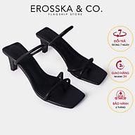 Dép cao gót thời trang Erosska kiểu dáng xỏ ngón phối dây cao 8cm EM072 thumbnail
