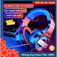Tai nghe chụp tai máy tính XSmart GAMING MC Q9 có đèn LED đổi màu, mic đàm thoại, headphone chơi game trên laptop, pc - Hàng Chính Hãng thumbnail