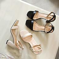 Giày cao gót nữ đế vuông 7 phân bít mũi quai ngang mũi vuông Cao Cấp thanh nhã G0507 thumbnail