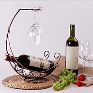 Giá Treo Ly Rượu hình Tàu Cướp Biển kèm Khay để chai rượu Kèm Kệ Để Chai rượu vang Đặt Bàn thumbnail