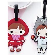 Thẻ hành lý, thẻ tên vali Cặp đôi cậu, cô bé cute (Combo 2 thẻ) thumbnail