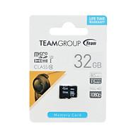 Thẻ Nhớ Micro SDHC Team 32GB 500x Class 10 U1-80MB s (Đen) - Hàng Chính Hãng thumbnail