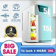 Tủ lạnh mini 20L 2 ngăn có hiển thị nhiệt độ thumbnail