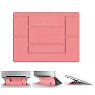 Đế nâng, giá đỡ máy tính, laptop, macbook vô hình siêu mỏng gọn - MÀU HỒNG thumbnail