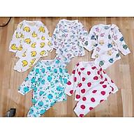 SÉT 5 Bộ cotton giấy dài tay cho bé MẶC THU ĐÔNG (GIAO HỌA TIẾT NGẪU NHIÊN) thumbnail