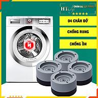 Bộ 04 chân đế cao su chống rung máy giặt - HT SYS - Đế chống rung máy giặt - Đế chống ồn máy giặt, máy sấy,tủ lạnh, bàn ghế - Giao màu ngẫu nhiên thumbnail
