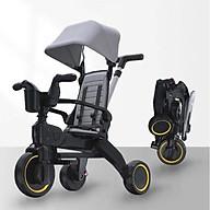 Xe đẩy 3 bánh cho bé 3in1 kiêm xe chòi chân ngã lưng 3 cấp độ siêu gấp gọn, dành cho bé từ 1 - 5 tuổi trọng tải 40kg thumbnail