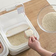 Bộ 3 thùng đựng gạo thông minh nắp bật kèm ca đong (6kg) - Hàng Nội Địa Nhật thumbnail