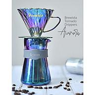 Bộ phễu V60 pha cà phê pour over thủy tinh Brewista Tornado Dripper & Server - Màu cực quang thumbnail