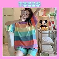 Đồ bộ nữ cộc tay mặc nhà mùa hè quần đùi thun cotton dễ thương form bigsize phong cách hàn quốc BNC01 thumbnail