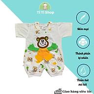 Set áo yếm trẻ em sơ sinh thêu hình gấu con - trắng - dành cho trẻ 3 - 9kg - cotton 100% thumbnail