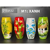 Bình cắm hoa sơn mài gốm sứ bat trang họa tiết vẽ tay thumbnail
