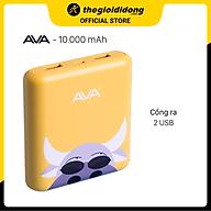 Pin sạc dự phòng 10.000 mAh AVA LA Y65 - Hàng chính hãng thumbnail