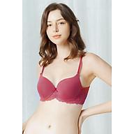 Áo Lót Nữ Siêu Nâng Ngực Mút Dày Trơn Phối Ren Bra Lily (Mustoto MA16) thumbnail