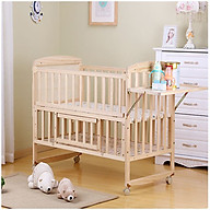 Nôi cũi gỗ, giường cũi cho bé kích thước 120 65cm thumbnail
