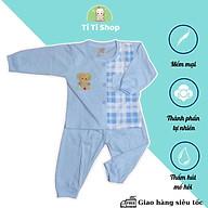 Set áo quần trẻ em sơ sinh thêu hình voi con caro - 4 màu - dành cho trẻ 3 - 9kg thumbnail
