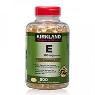 Thực phẩm chức năng Kirkland Signature Vitamin E 400 IU - Chai 500 Viên (Mẫu Mới) thumbnail