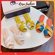 Dép sục mũi vuông phối 2 màu xinh xắn Mys Rosa Factory thumbnail