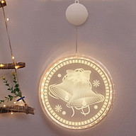 1pc 16cm 6.3in Christmas Decoration LED Light Hanging 3D Pendant Light Warm White Battery Powered for Home Room Bedroom thumbnail