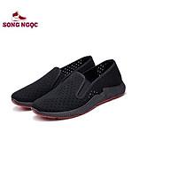 Giày Lười vải kết hợp lỗ thoáng khí SSN60 giày đế kếp đỏ đúc nguyên khối ôm chân nhẹ nhàng khi mang thumbnail