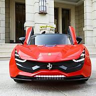 Ô tô xe điện FERRARI 7587 đồ chơi vận động cho bé tự lái và điều khiển (Đỏ-Trắng-Xám nâu) thumbnail