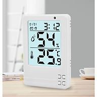 Dụng cụ đo nhiệt độ, độ ẩm mini màn hình LCD PD 03 ( Giao màu ngẫu nhiên ) ( Tặng kèm pin ) thumbnail