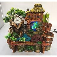 Thác Nước Phong Thủy Tiểu Cảnh Nhà Vàng Bên Suối- Tranng Trí Nhà Cửa, Biếu Tặng thumbnail