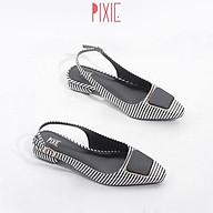 Giày Búp Bê 2cm Hở Gót Mũi Vuông Khóa Vuông Pixie X450 thumbnail