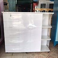 Tủ quần áo làm bằng nhựa đài loan dành cho người lớn và trẻ em kích thước 1.25m x 1.45mx 45cm thumbnail