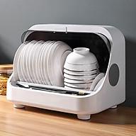 Tủ đựng bát đĩa khử trùng bằng tia UV giúp diệt 99,9% vi khuẩn - Giá úp bát có nắp đậy chống bụi bẩn thumbnail