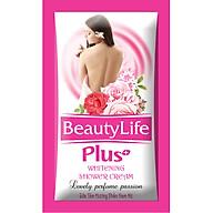 Sữa tắm hoa hồng trắng da,dưỡng ẩm dạng gói nhỏ gọn tiện dụng Beauty Life 10 gói x 5g(Combo 6 dây) thumbnail