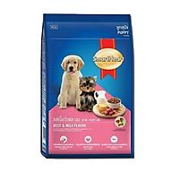 Thức Ăn Hạt SmartHeart Puppy Vị Bò Và Sữa Cho Chó Con thumbnail