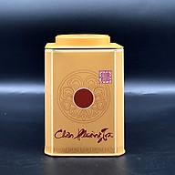 Hộp vuông đựng trà bằng thép màu vàng thumbnail