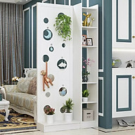 Vách ngăn trang trí phòng khách ô tròn liền 1 kệ - C1m9 x R90cm thumbnail